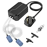 VicTsing Aquarium Air Pump, Fish Tank Air Pump Oxygen Pump for Fresh & Saltwater with 2 Air Outlet/Stones/Tubes/Check Valve/Adjustable Air Valve and 3-way Connector