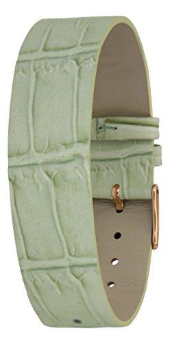 Moog Paris Pulsera para Mujeres de Piel de Becerro, Color Verde, Correa 18mm - MC-15RG