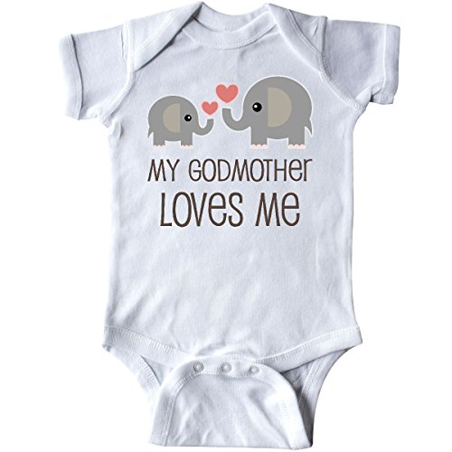 inktastic My Godmother Loves Me Infant Creeper 6 Months White