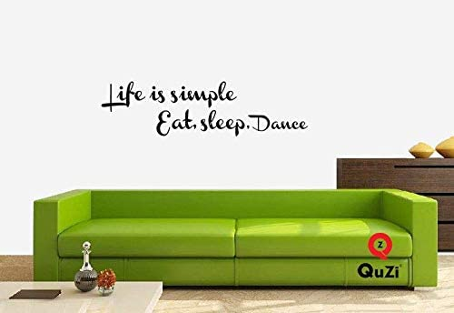 QuZi Life is Simple Eat Sleep Dance Home D cor Wall Decal Quote Sticker Art Vinyl Bedroom Living product image