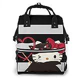 Mochila para pañales - Hola Kitty de Halloween multifunción impermeable mochila de viaje maternidad pañales cambiantes bolsas