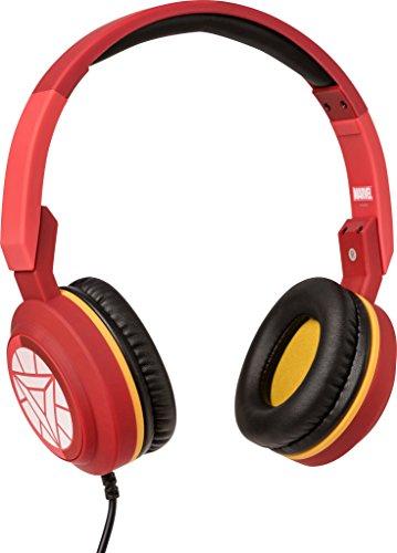 Tribe Marvel - Auriculares on-ear con micrófono I Auriculares Cascos para Iphone, Android, Movil, PS4, XBOX, PC, Computador - diseño Iron man