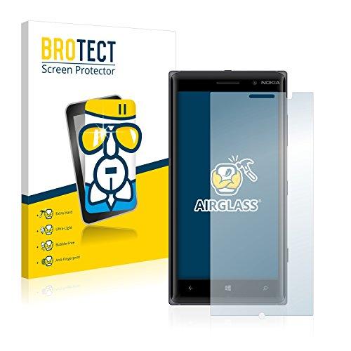 BROTECT Panzerglas Schutzfolie kompatibel mit Nokia Lumia 830-9H Extrem Kratzfest, Anti-Fingerprint, Ultra-Transparent