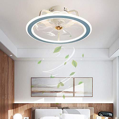 Ventilador de techo con iluminación Luz LED Ventilador moderno Ventilador techo Lámpara de techo Regulable con control remoto Dormitorio Sala de estar Habitación para niños Lámpara de ventilador