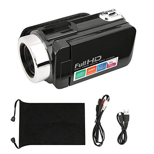 Videocamera Digitale da 3 Pollici, Schermo LCD Videocamera DV Digitale ad Alta Definizione con Zoom Digitale 18X(Videocamera)
