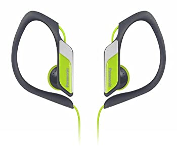 Panasonic Sports Clip Earbud Headphones RP-HS34-Y  Yellow  Water Resistant Tough Durable Adjustable Ear Clip Ultra Light