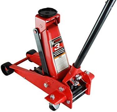 K Tool International 3 Ton Floor Jack Compact Service Jack Wide Lifting Range Jacks Cars and product image