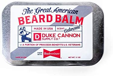 Duke Cannon Supply Co Great American Beard Balm Net Wt 1 1oz Made with Budweiser Cedarwood Scent product image
