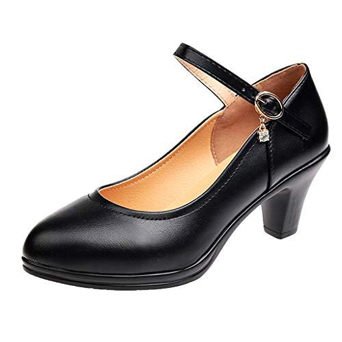 Dames Open Toe Plateau High Heel pumps slippers met riempje Party bruiloft schoenen zwart By Vovotrade