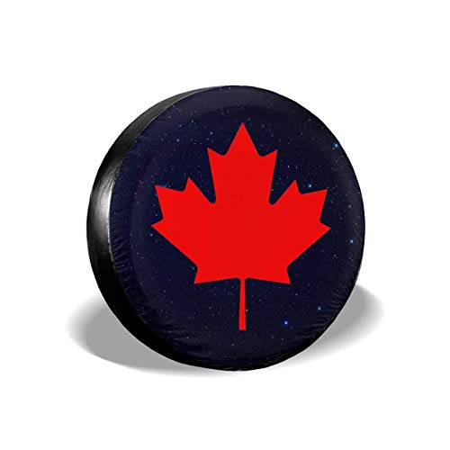 Belleeer Reserveradabdeckung, Canadian Flag Canada Maple Leaf Tire Covers Car SUV Camper Travel Trailer Spare Tire Tyre Cover
