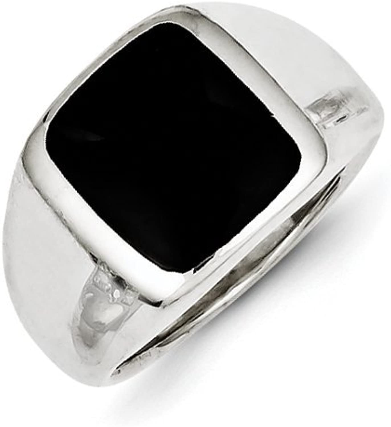 gold and Watches Sterling Silver Synthetic Onyx Ring
