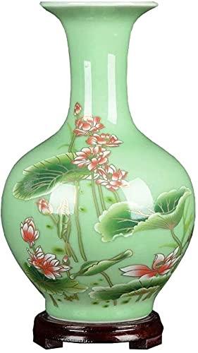Vase Dekoration Dekorative Blume Keramik Dekoration modern Wohnzimmer tv Cabinet Blume Ordnung Dekoration JXLBB (Color : Green)