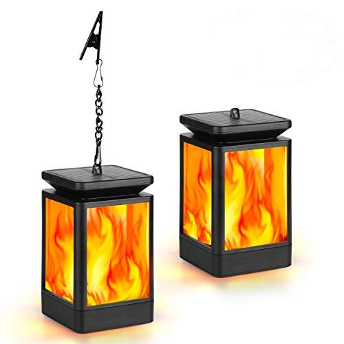 Kinglead Solarleuchte Flammenlicht Garten Flammen IP55 Gartenleuchten Solar Licht Solar Laterne Gartenlaternen Solarlaterne Flammenlampe