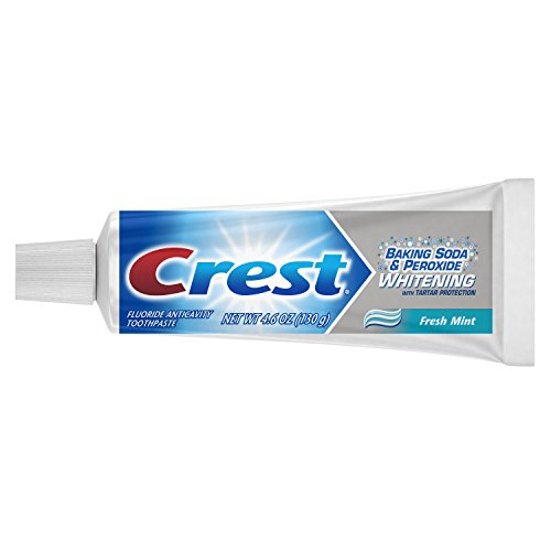 Crest Baking Soda and Peroxide Whitening with Tartar Protection Fresh Mint Toothpaste, 4.6 Ounce