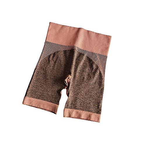 BDN los Pantalones de Yoga de Cintura Alta Elegante con Gimnasio de Control de la Barriga,Pantalones Cortos de Yoga Fitness para Mujer, Pantalones para Correr Ajustados de Cintura Alta-Rosado_L