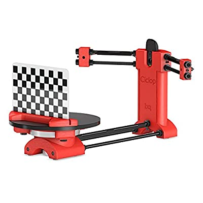 BQ Ciclop 3D Scanner RED DIY Kit 100% Open Source