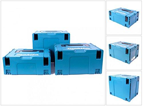 Makita MAKPACSET Makpac Set 2 3 + Gr. 4 Transportbox und Werkzeugkiste