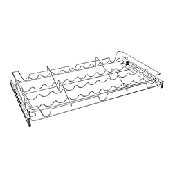 silver pull out cabinet organizer