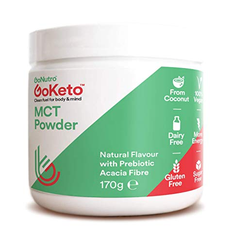 GoNutro mct oil powder, keto, creamer, pure coconut, no carbs, vegan, acacia prebiotic