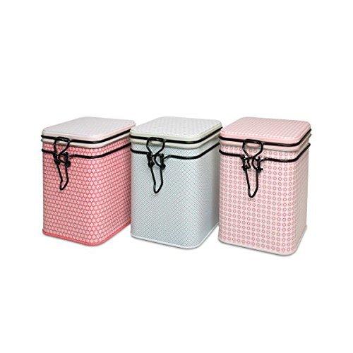 Eigenart Bella - Juego de 3Botes de té, Color Rosa + Azul + Rojo, para 150g Cada uno