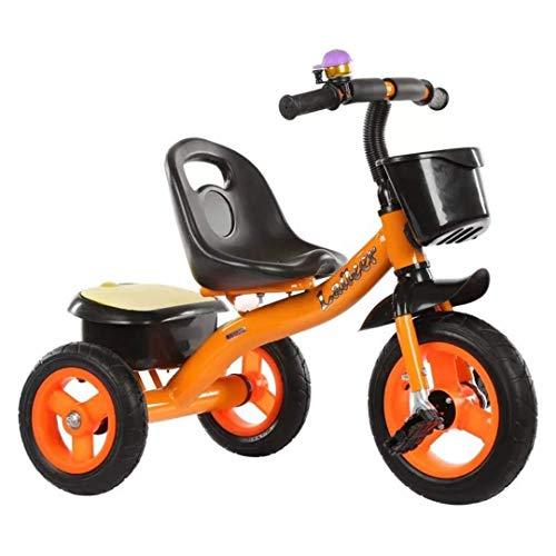 Kinder driewieler Fiets voor kinderen van 2-3-6 kinderen Trolley Kinderfietsen Beste cadeau voor kinderen,Orange