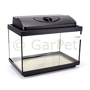 GarPet-Aquarium-Komplett-Set-rechteckig-mit-LED-Abdeckung-Filter-Heizer-Aquariumset