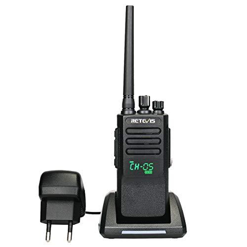 Retevis RT50 DMR Funkgerät IP67 Wasserdicht 198 Kanäle Analog/Digital Modus Digital Handfunkgerät Amateurfunk Kompatibel mit Motorobo TierⅠ& Ⅱ (Schwarz)