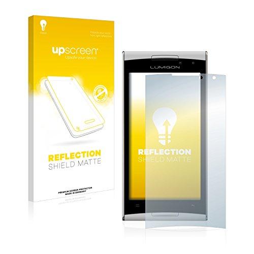 upscreen Entspiegelungs-Schutzfolie kompatibel mit Lumigon T2 HD 2014 – Anti-Reflex Bildschirmschutz-Folie Matt
