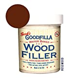 Water-Based Wood & Grain Filler - Rosewood - 8 oz by Goodfilla | Replace Every Filler & Putty | Repairs, Finishes & Patches | Paintable, Stainable, Sandable & Quick Drying