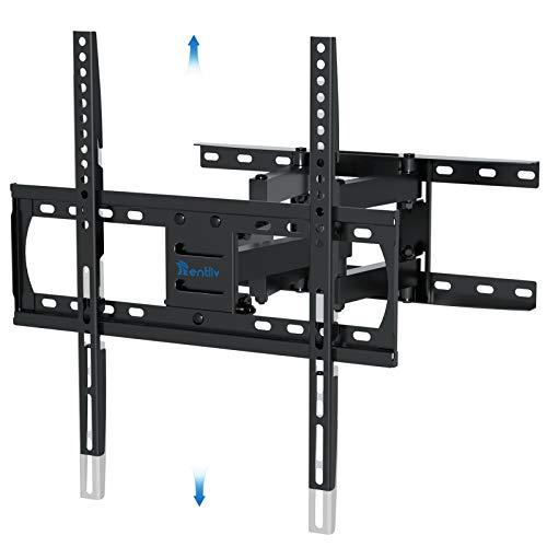 Staffa a parete per TV Supporto per TV a sbalzo inclinabile e girevole con bracci a doppia estensione per servizio TV piatto e curvo da 26-55 pollici Fino a 45 kg Max VESA 400x400mm