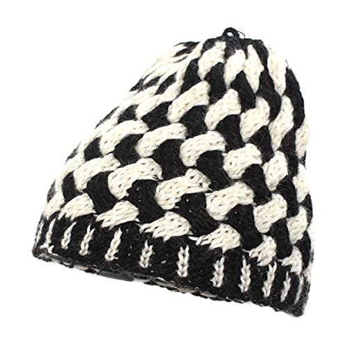 YUHUA-SHOP1983 Gorros Muchachas de Las Mujeres de Punto Beanie Sombreros Suave paño Grueso y Suave Caliente Forrado de esquí del Sombrero del Invierno Sombreros (Color : Black, Size : One Size)