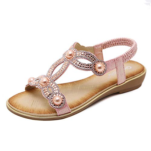 Sandali da Donna Scarpe Casual Grandi Dimensioni @ Rosa_35