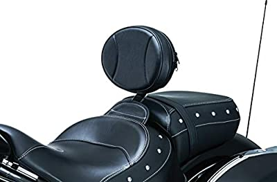 Kuryakyn 1628 Motorcycle Accessory: Plug-N-Go Driver Seat Backrest Pad for 2014-19 Indian Motorcycles, Black from Kuryakyn