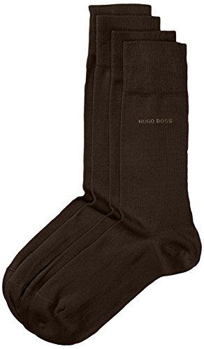 BOSS Twopack RS Uni Calcetines, Marrón (Dark Brown 206), 39/42 (Pack de 2) para Hombre