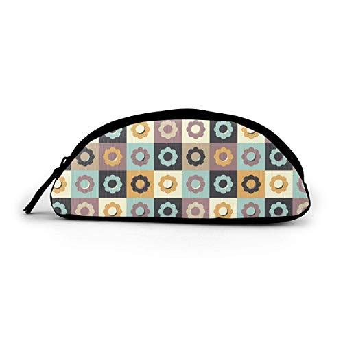 KSDD Semicircle Pencil Case with Zipper Cute Owl Pen Case Cosmetic Bag Coin Bag