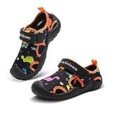 IceUnicorn - Scarpe da ginnastica per bambini, scarpe da trail running a piedi nudi, da spiaggia, per ragazzi e ragazze, (Dinosauro nero.), 29 EU