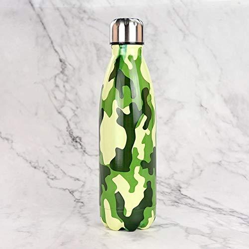 Berrd 24 Colores Caldera Libre de BPA Termo Botella de Bebida de Acero Inoxidable Taza de Viaje portátil Deportes - 500 ml, K11