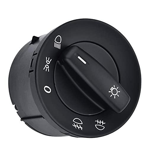 Interruptor De Luz De Faros Interruptor de la luz del interruptor de la lámpara del interruptor de control de la perilla para usar VW Volkswagen Golf 5 6 Caddy JETTA TOURAN Passat B6 B7 CC 1K0941431N