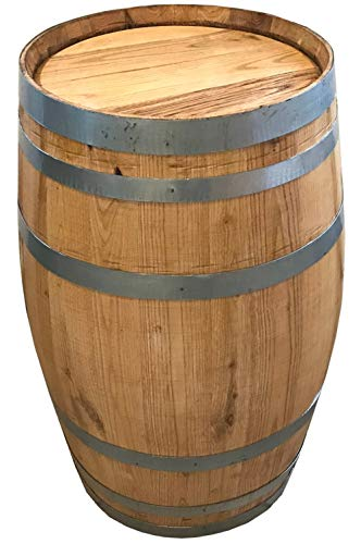 NHF 150 Liter Holzfass, neues Fass, Weinfass aus Kastanienholz vom Holzfass Baron Größe unbehandelt geschlossen
