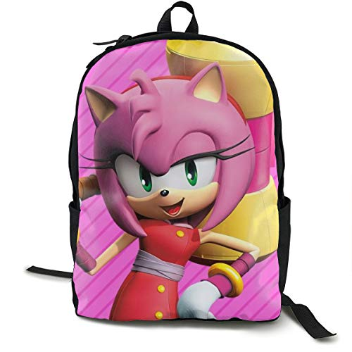 %28 OFF! Sonic Boom-Amy Rose Anime Cartoon Cosplay Canvas Shoulder Bag Backpack Cool Lightweight Tra...