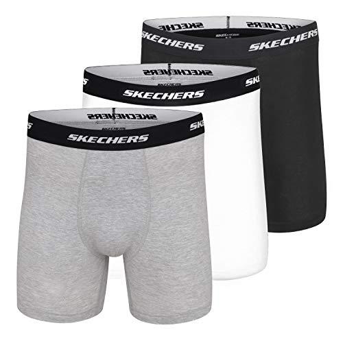 Skechers Calzoncillos tipo bóxer para hombre de 12,7 cm, con soporte integrado...