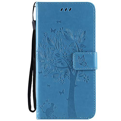 Hülle für Xiaomi Pocophone F1 Handyhülle Schutzhülle Leder PU Wallet Bumper Lederhülle Ledertasche Klapphülle Klappbar Magnetisch für Xiaomi Pocophone F1 - ZIKT022034 Blau