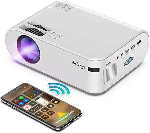 Mini Projector for iPhone WiFi Projectors Wireless Screen Mirroring Salange P62H Movie Projector product image