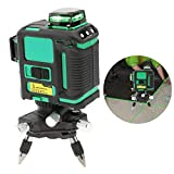 1pc Lasers Level Green Light 12-Line Intersect Line Leveling Tool 100V-240V 3D Green