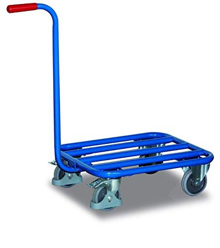 Griffroller mit Stahlrohrladefläche Traglast (kg): 250 Ladefläche: 605 x 500 mm RAL 5010 Enzianblau