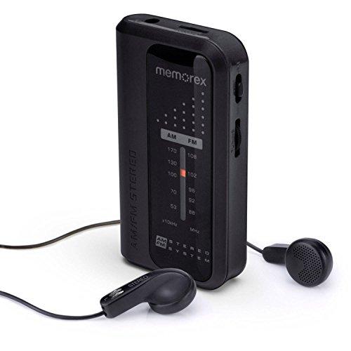 Memorex AM/FM Portable Pocket Radio MR4240 - Black (Renewed)