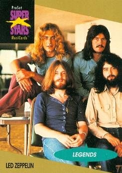 Led Zeppelin trading Card (Musicians) 1991 Proset Musicards Super Stars #24