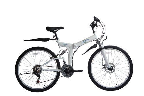 Folding Bikes ECOSMO 26″ Folding Mountain Bicycle Bike 21SP SHIMANO-26SF02W [tag]