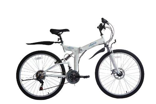 Ecosmo - Mountain bike pieghevole, cambio 'Shimano', 21 velocità, 66 cm