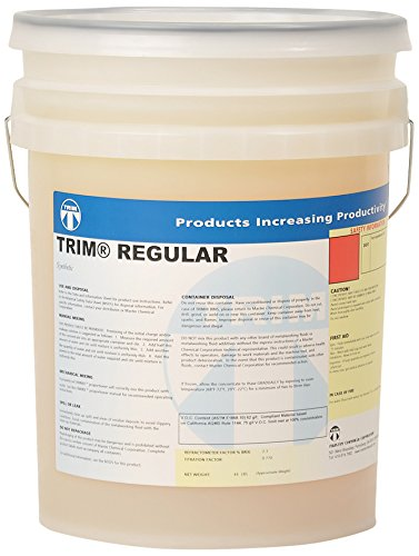 TRIM Cutting & Grinding Fluids REGULAR/5 REGULAR Synthetic Coolant Concentrate, 5 gal Pail